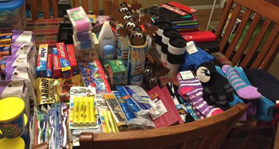 toiletries & supplies for gift boxes